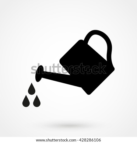 watering can Icon isolated on background. Modern flat pictogram, business, marketing, internet concept. Trendy Simple vector symbol for web site design or button to mobile app. Logo illustration - stock vector