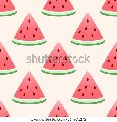 Watermelon background. Seamless vector wallpaper - stock vector