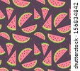 Watermelon vector colorful seamless pattern - stock