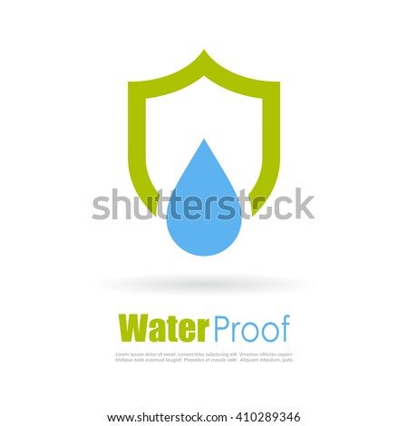 Waterproof logo vector illustration isolated on white background - stock vector