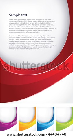Wave abstract background for business artworks. Vector - stock vector
