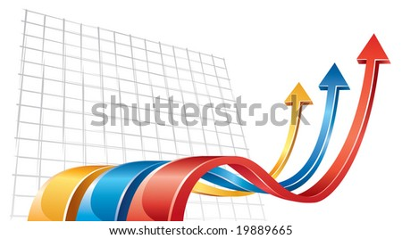 Wave arrows - stock vector