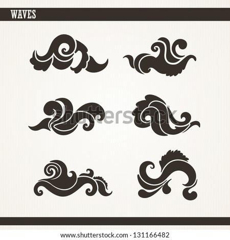 Wave Collection - stock vector