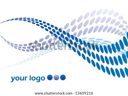 Wave dots - stock vector