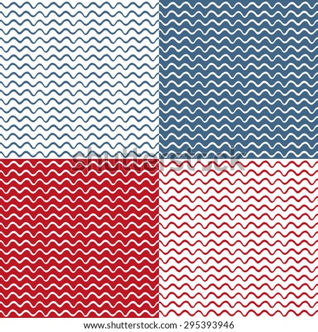 Wave seamless background - stock vector