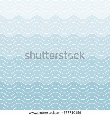 Wave Seamless Pattern - stock vector