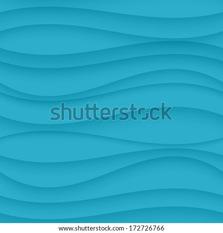 Wave seamless pattern background - stock vector