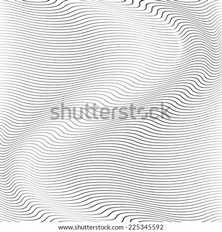 Wave Stripe Background - simple texture for your design. EPS10 vector. - stock vector