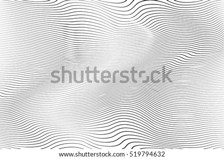 Wave Stripe Background - simple texture for your design. EPS10 vector.