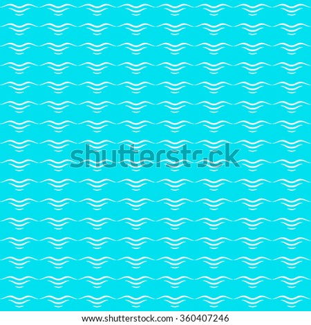 Waves, abstract seamless pattern vector illustration - stock vector