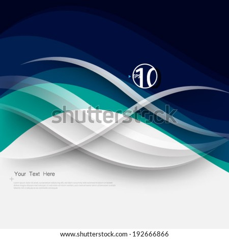 Waves and Lines Background - stock vector