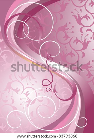 Waves and stripes on a light purple background.Banner.Background. - stock vector
