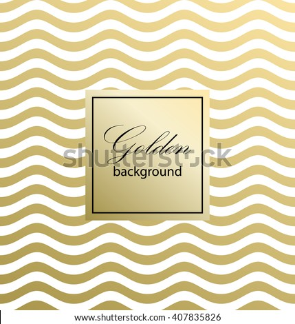 Waves on a white background. Gold pattern. Classic Pattern. Vector illustration. - stock vector