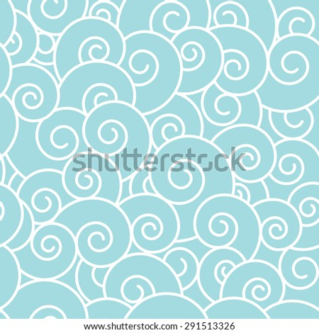 Waves seamless pattern. - stock vector