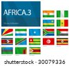 "Waving Flags of African Countries - Part 3. Design ""Waves & Borders"". One of the Flags of the World series. - stock photo"
