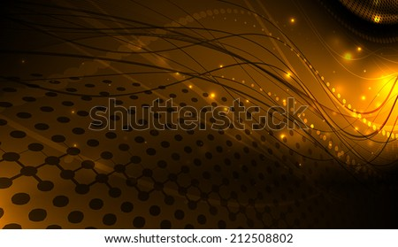 Wavy abstraction. - stock vector