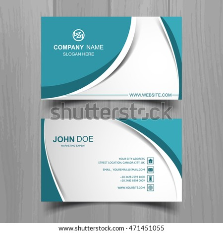 Wavy business card stock vector 471451055 shutterstock wavy business card reheart Images