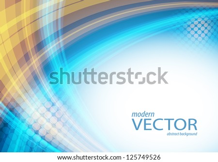 wavy lines with copy space. Eps10 - stock vector