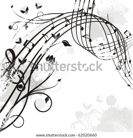 wavy music - stock vector