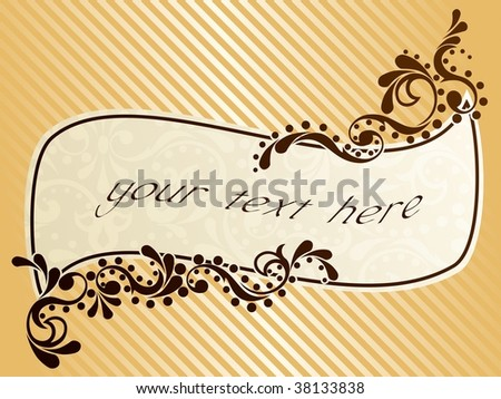 Wavy vintage sepia frame (vector); a JPG version is also available - stock vector