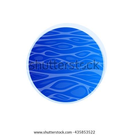 wavy water texture circle ocean waves stock vector royalty free