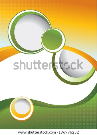 Wawe background with bubbles - stock vector