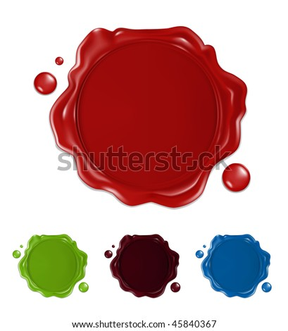 Wax seal, mesh - stock vector