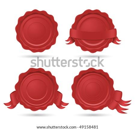wax seals - stock vector