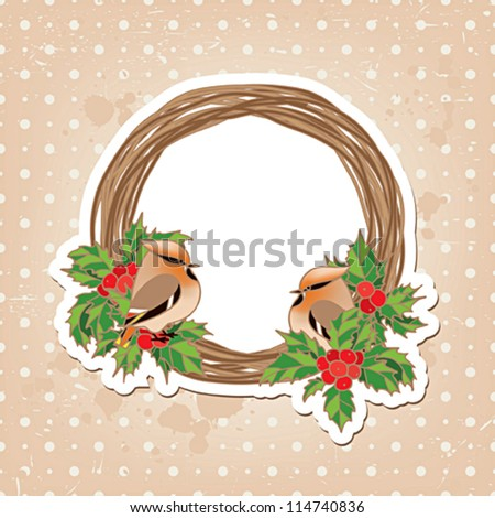Waxwing Christmas card