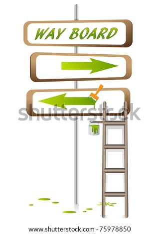 way board - stock vector