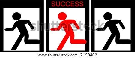 Way to success - stock vector
