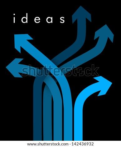 Ways of Ideas - stock vector