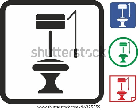 WC bathroom toilet vector icon
