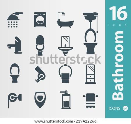 Wc ,Toilet,bathroom icon - stock vector