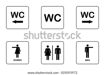 Boy girl bathroom sign