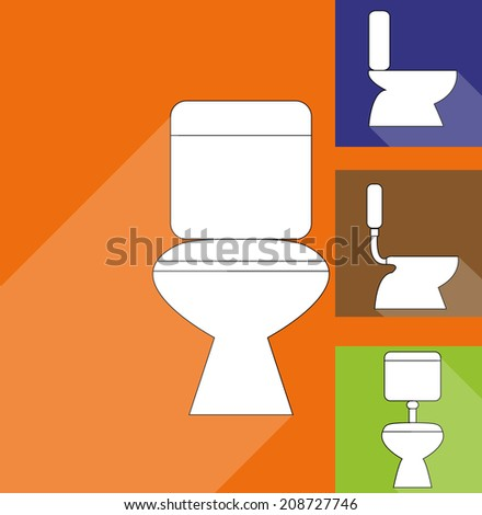 Wc ,Toilet icons - stock vector