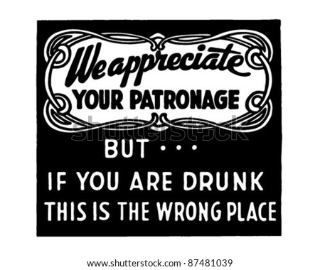 We Appreciate Your Patronage 2 - Retro Ad Art Banner