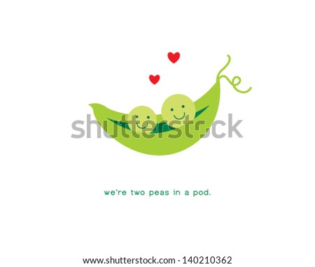 we are two peas in a pod - stock vector