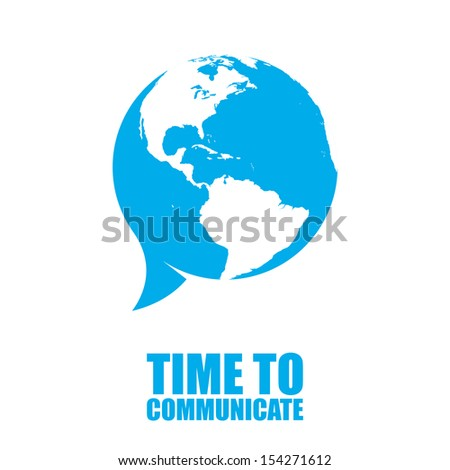 We have great opportunity to communicate with whole world. New communication technologies let us do it. But don't forget to bring all those benefits from digital world into reality. - stock vector