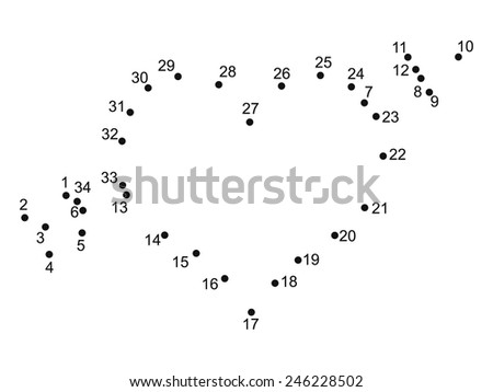 we plot a heart - stock vector