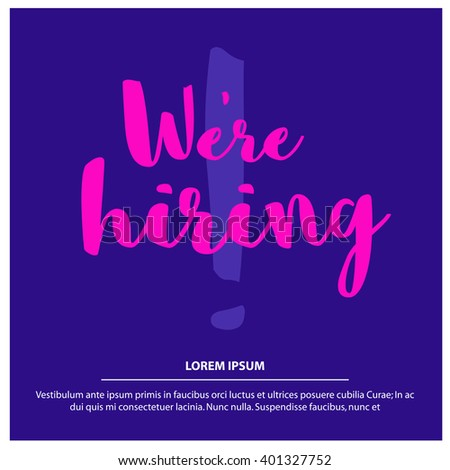 now hiring template free