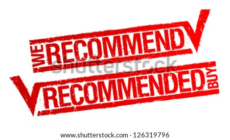 We recommend rubber stamp. - stock vector