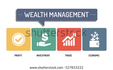 vector wealth management WEALTH MANAGEMENT ICON SET Stock Photo (Photo, Vector, Illustration ...
