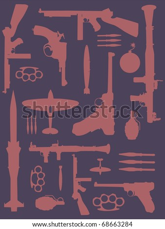 Weapon pattern - stock vector