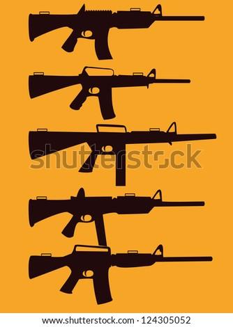 Weapon vector art - stock vector