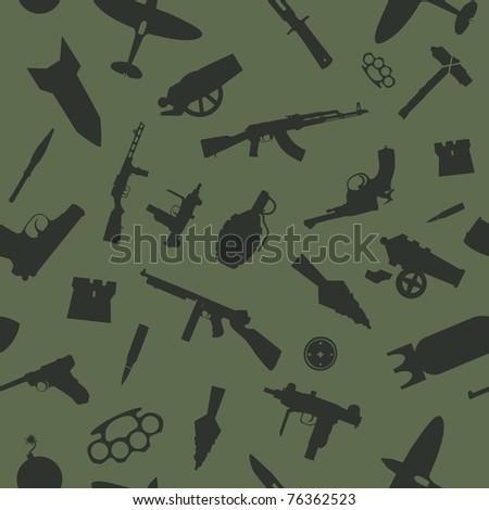 weapon vector seamless pattern - stock vector