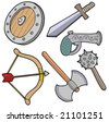 Weapons collection - vector illustration. - stock photo