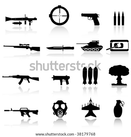 weapons for war - stock vector