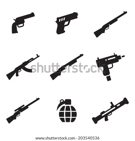 Weapons Icons - stock vector