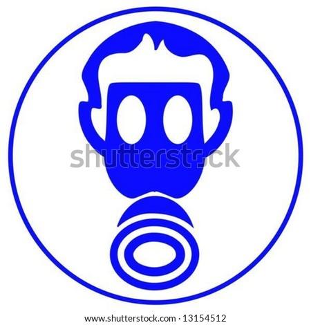 wear gas mask - stock vector